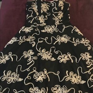 Masquerade- Black and White floral dress
